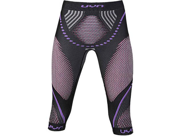 UYN Evolutyon UW Pantalones Medianos Mujer, anthracite melange/raspberry/purple